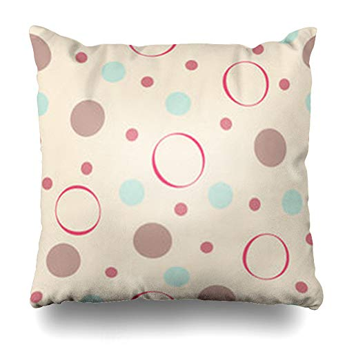 (NOWCustom Throw Pillow Cover Holiday Color Polka Dot Pattern Abstract Blue Vintage Toile Art Zippered Pillowcase Square Size 20 x 20 Inches Home Decor Cushion Case)