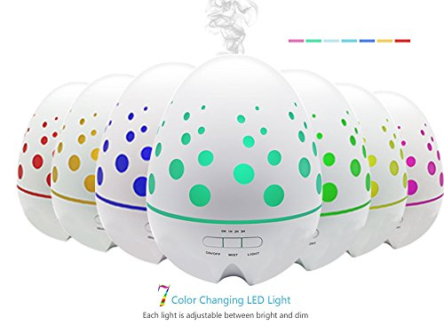Cheap Ledsniper 400ml dinosaur egg shape hollow design Aromatherapy Essential Oil (Ultrasonic Cool Mist) Humidifier -Waterless AUTO Shut-off & 7 Color LED Lights-Best for Home, Office, SPA, Yoga