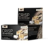 MusclePharm Crisp Protein Bar, 16 Grams of Protein, Delicious Protein Bar, Banned-Substance Tested, Marshmallow, Non-GMO, Gluten-Free, Low in Sugar and Carbs, 12 Servings