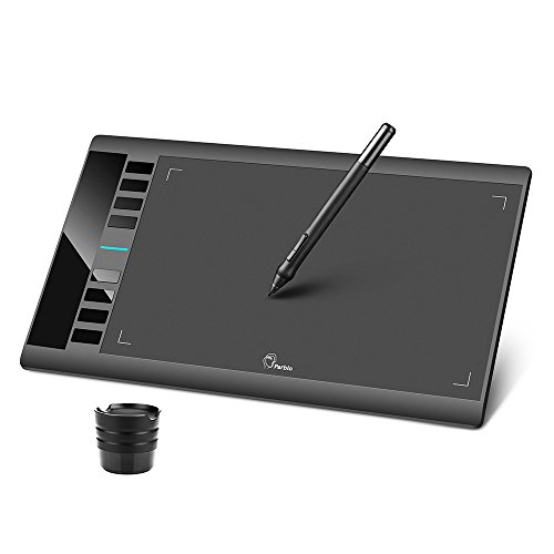 Parblo A610 Graphic Drawing Tablet with 2048 Levels Pressure Drawing Pen, 10x6 Inches Drawing Tablet with Stylus for Digital Art Sketch, Paint, Design, Drawing