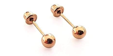 muy baratas estilo exquisito forma elegante Aretes bebé oro 10 kilates dormilonas (3mm)