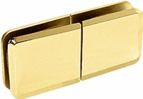 CRL Brass Square Beveled 180 Degree Glass-to-Glass Movable Transom Clamp