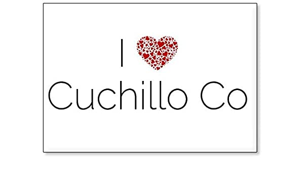 Amazon.com: I Love Cuchillo Co, fridge magnet (design 2 ...