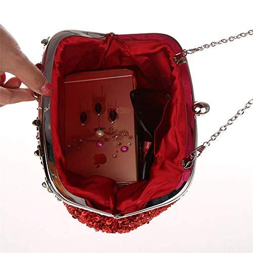 Casarse De Tarde Bolso Black Vintage Bolsos Mensajero Black Mujeres Los Embrague Para Del Moldearon color Las Hombro Bolsa d6xIwqPgw