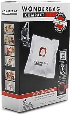Rowenta Wonderbag Compact WB305120 - Pack de 5 bolsas para aspiradora, universal para aspiradores con una capacidad de 3 L, máx. filtración al 96 % de ...