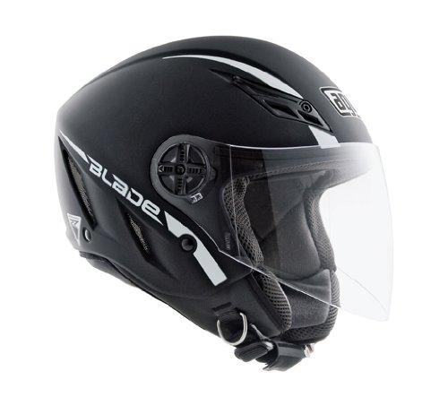 (AGV Blade Matte Black Open Face Helmet,)