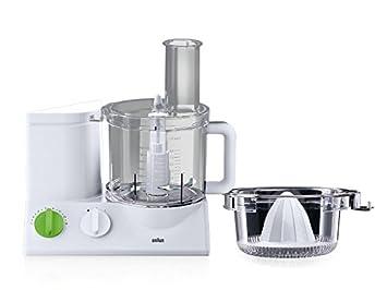 Braun FP3020 Robot de cocina, 600 W, plástico, color blanco: Amazon.es: Hogar