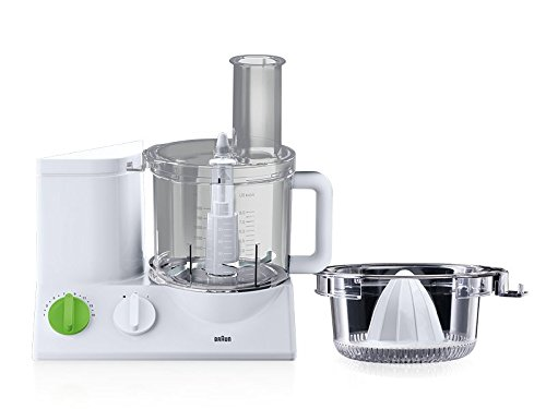 Braun FP3020WH TributeCollection Food Processor, 220-volt (Not for USA - European Cord), 12-Cup, White