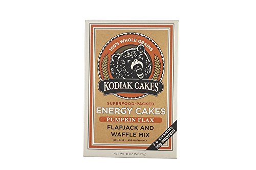 Price comparison product image Kodiak Cakes Pumpkin Flax energy cakes superfood Protein Packed All Natural,  Non GMO Protein Pancake,  Flapjack and Waffle Mix 18 ounce