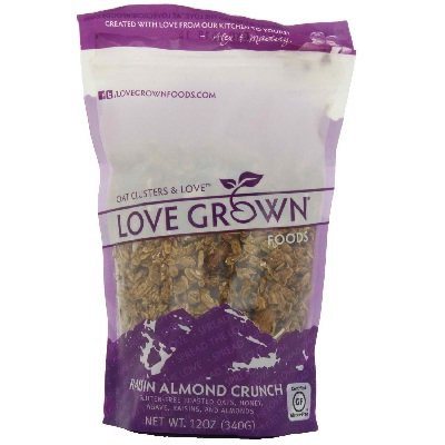 Love Grown Foods Raisin Almond Crunch Granola, 12 Ounce - 6 per case. by Love Grown
