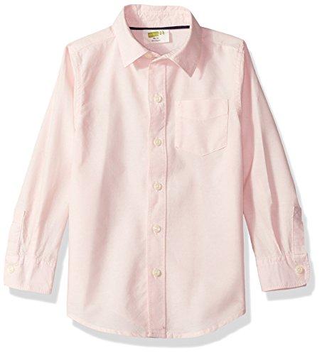 Crazy 8 Little Boys' Long-Sleeve Dress Shirt, Pink Oxford, - Pink M