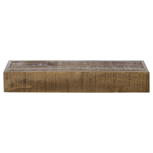 Cal-Mil 166-3-99 Madera Reclaimed Wood Rectangle Plate Riser - 20 1/2'' x 7'' x 3 1/4'' by Cal Mil