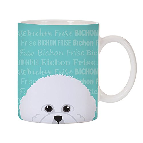 - Adorable Dog Breed Specific 11oz Ceramic Coffee Mug (Bichon Frise)
