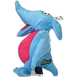 goDog Dinos Pterodactyl Plush Dog Toy with Chew Guard Technology, Large, Blue