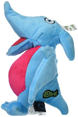 goDog Dinos Pterodactyl Plush Dog Toy with Chew Guard Technology, Large, Blue by goDog