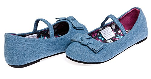 Chatties Toddler Girls Denim Ballet Flats Size 7/8 - Light Blue (Old West Outfit)