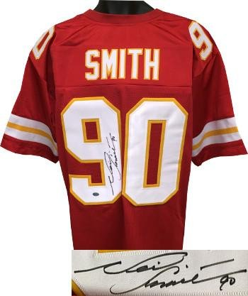 6ae63a0f3 Neil Smith Autographed Jersey - Red TB Custom Stitched Pro Style #90 XL  Hologram -