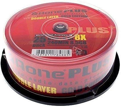 Lote - Aone Toda Carilla Imprimible 8x DVD+R DL Doble Capa 8.5GB - 600 Discos - Buy The Caja: Amazon.es: Oficina y papelería