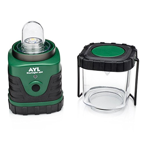 AYL StarLight Water Resistant Shock Proof Battery Powered Ultra Long Lasting Up To 6 DAYS Straight 600 Lumens Ultra Bright LED Lantern Perfect Camping Lantern for Hiking, Camping, Emergencies, Hurricanes, Outages