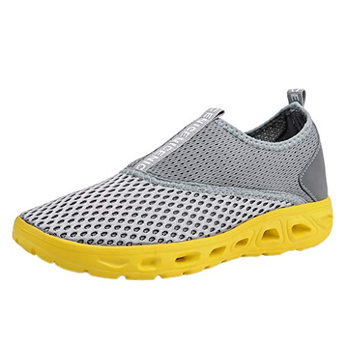 - Fashion Running Sneakers for Men, SFE Couple Hollow Breathable Lightweight Sneakers Soft Bottom Mesh Shoes
