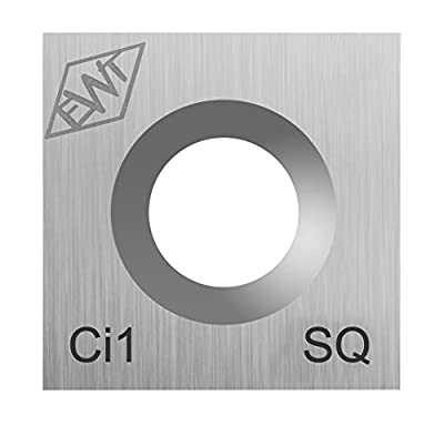 Authentic Easy Wood Tools Ci1-SQ Square Carbide Replacement Cutter for Full and Pro Size Roughers Lathe Woodturning Tools Ci1-SQ from EASY WOOD TOOLS