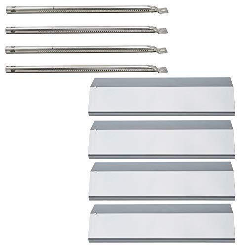 (Hisencn Grill Repair Kit Stainless Steel Burner Tube, Heat Plate Tent Replacement for Amana AM26LP, AM27LP, AM30LP-P, AM33LP-P, Surefire SF278LP, SF308LP, Tuscany CS784LP, CS892LP Gas Grill Models)