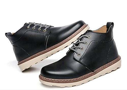LINYI Men'S Genuine Leather Casual Business Wedding Shoes Dress Office Career Black Brown Black x3Z0YTJE