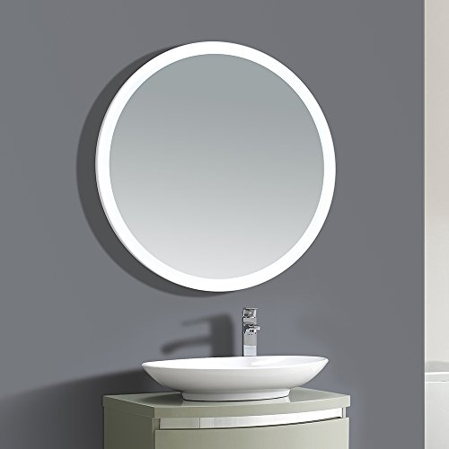 Amazon Ove Decors Aries LED Lighted Round Mirror With Infrared Sensor 35 Home Improvement