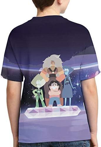 Roasien Steven-Univers Teen T-Shirt Soft Summer Comfortable Shirt Casual