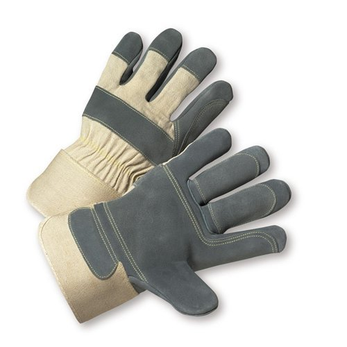 West Chester 500DP-AAA White XL Split Cowhide Leather Work Gloves - Wing Thumb - 10.5 in Length - 500DP-AAA/XL [PRICE is per DOZEN]