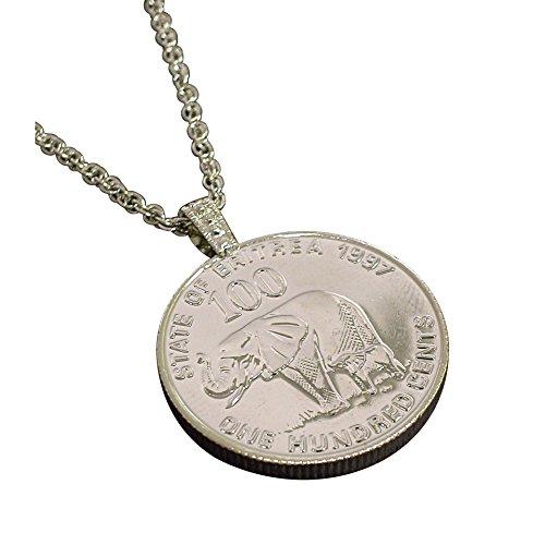 American Coin Treasures Lucky Elephant Coin Pendant Necklace