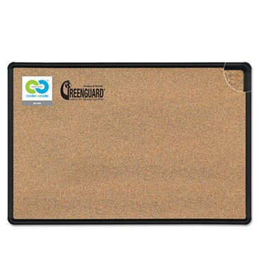 Balt, Inc Cork Board, Black Splash, w/Hardwr, 3'x4', 1