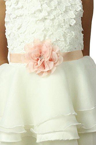- Lemandy Adorable Flowergirls Sash Belt for Children (Blush)