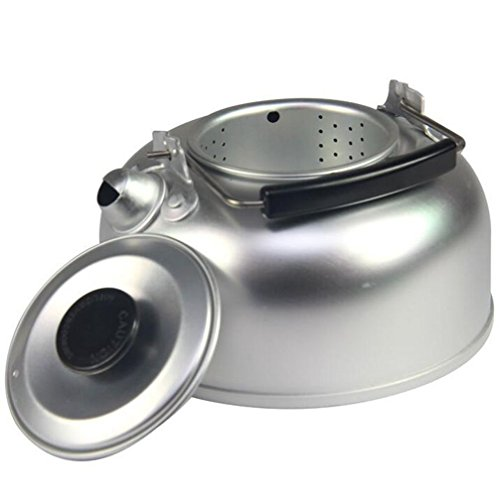 IBEET Outdoor Camping Hiking Kettle Coffee Pot Portable Teapot 1L, Percolator with Silicone Handle, Aluminum Ultra-light (Propane Kettle compare prices)