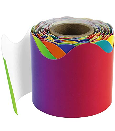 Rainbow Bulletin Board (Carson Dellosa Rainbow Scalloped Borders)