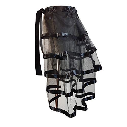 WANGMINGTU Tie-on Tulle Bustle Tiered Tutu Underskirt