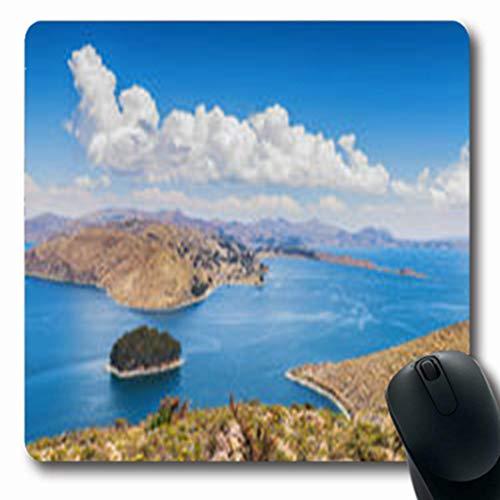 d41a17ecf12e Pandarllin Mousepads Oblong Shape 7.9 x 9.5 Inches Paz Isla Del Sol  Titicaca Water Lake Comunidad Nature Parks Outdoor Oblong Gaming Mouse Pad  ...
