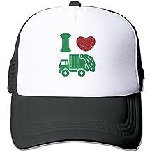 Arsmt Heart Love Trash Garbage Trucks Mesh Unisex Dad Trucker Baseball Cap