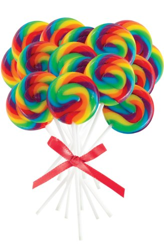 Mini Rainbow Spiral Lollipops (16)