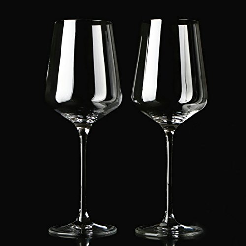 - Garwarm Lead-free Clear Crystal Glass Elegant Drinking Cups Red Wine Glasses,Set of 2,13.5 Ounce,Best For Birthday,Anniversary,Wedding Gifts or Engagement Party