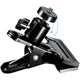 Neewer Multi-Function Spring Clamp Clip Holder Mount with Ball Head with Standard 1/4-Inch Screw for SLR, Digital SLR, Video Cameras