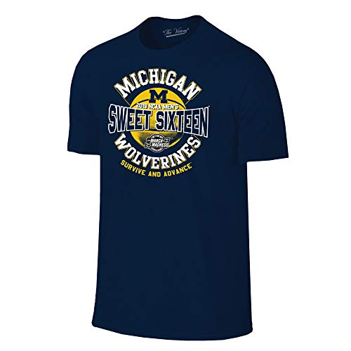 Michigan Wolverines 2019 Sweet 16 Basketball March Madness T-Shirt - 2X-Large - Navy ()