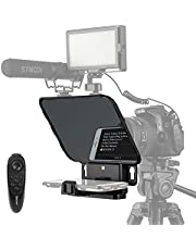 【Desview Authorized】 Desview T3 Teleprompter, Teleprompters for Smartphone Tablets, Making Video Programs, Professional Tool to Prompt The Blogger's Lines, Desview-T3-iPad-Tablet-Teleprompter…