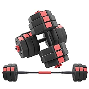 Well-Being-Matters 41Af4LQ95FL._SS300_ Soges Adjustable Dumbbells pair, Iron sand mixture Octagonal designed, Anti rolling Fitness Dumbbells HSYL001-30