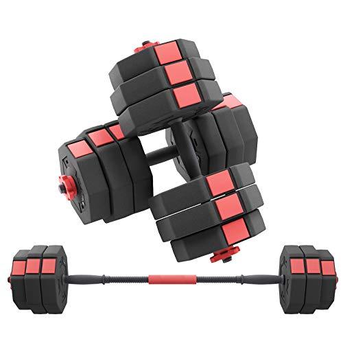 Adjustable Dumbbells Set, Weights Dumbbells Set,Dumbbell Weights Set with Connector, Free Weights for Exercises ,Non…