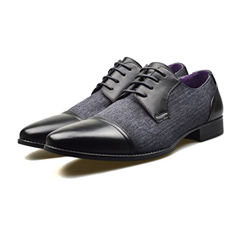 ClassyDude Negro negro zapato cordones unisex chico hombre con para adultos qHqZwx8rR