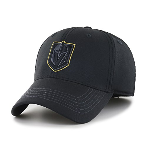 Knights Classic Hat - OTS NHL Vegas Golden Knights Wilder Center Stretch Fit Hat, Black, Medium/Large