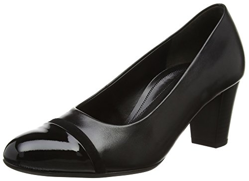 Pumps Patent Toe Black Deal Women's Leather Closed Gabor Black Suede ZqwAIFgW