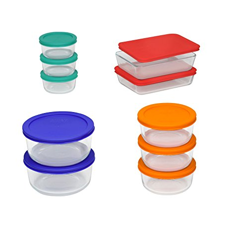 pyrex-storage-set-clear-red-orange-blue-green20-pieces