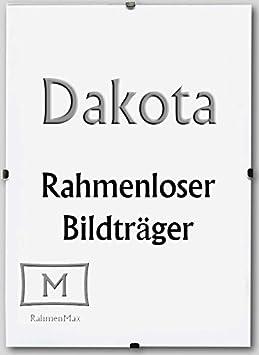 Dakota Rahmenloser Bildhalter Cliprahmen 37 x 50 cm mit 1 mm Antireflex Acrylglas und Paket-Sonderpreisen